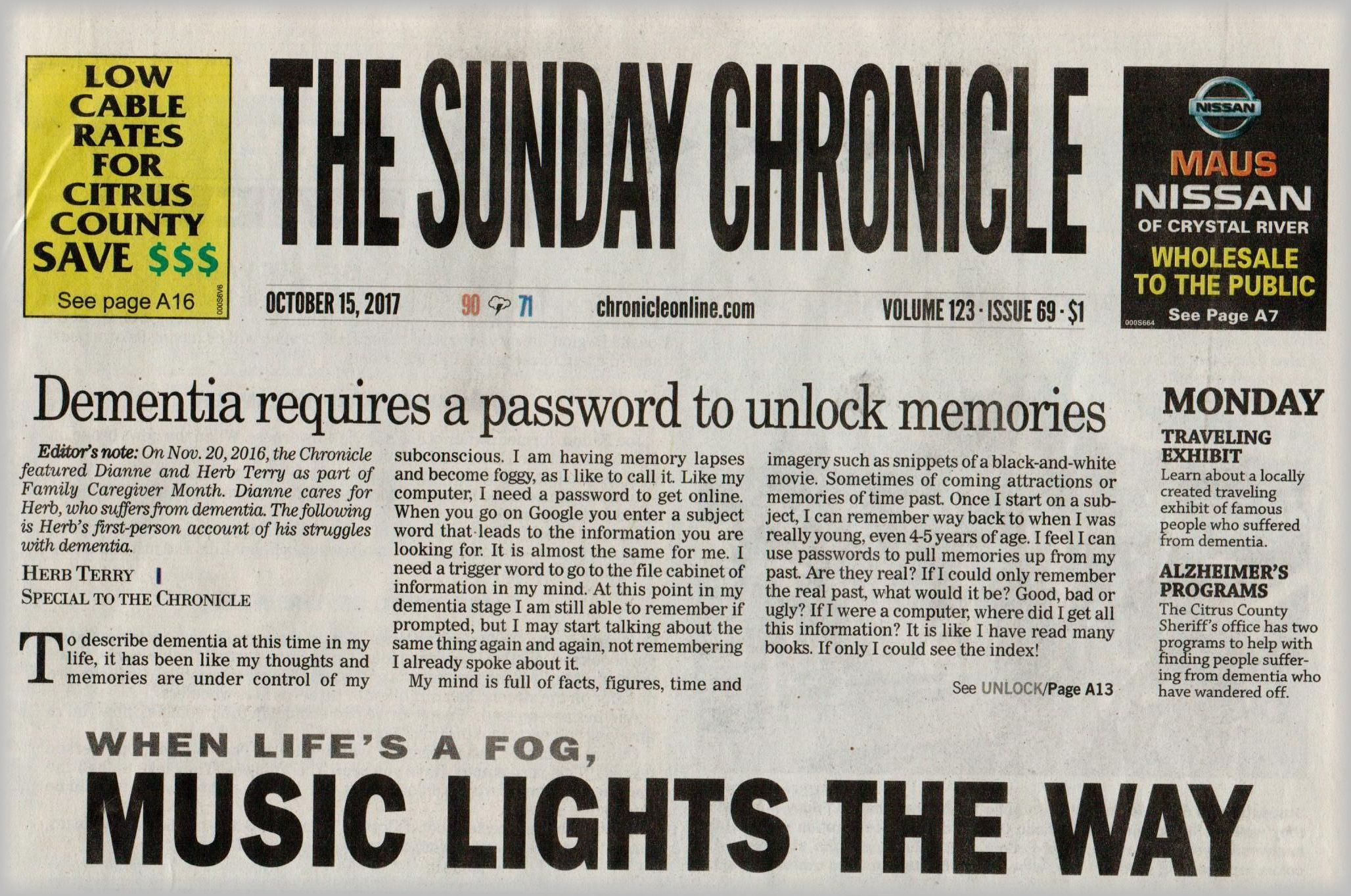 Sunday Chronicle - Coping Today
